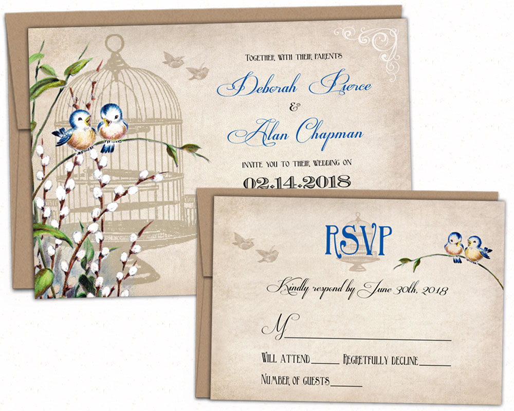 Bird Wedding Invitation: Bird-wedding-invitation