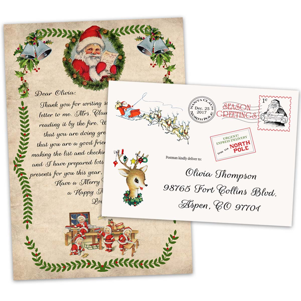 Personalized christmas letter from santa claus official north pole m4hsunfo
