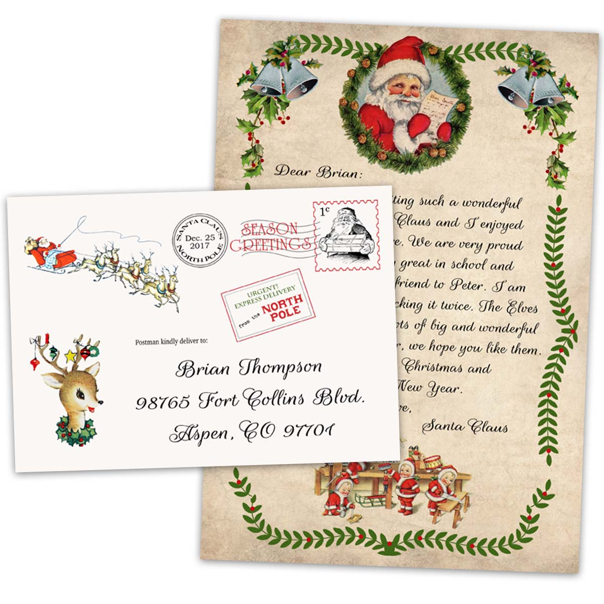 official pole mail personalized letters from santa official letter to child from santa claus from the pole 875