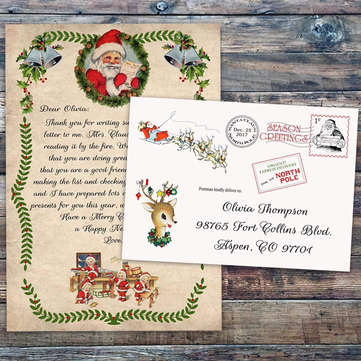 official pole mail personalized letters from santa custom letter from santa claus pole mail 875