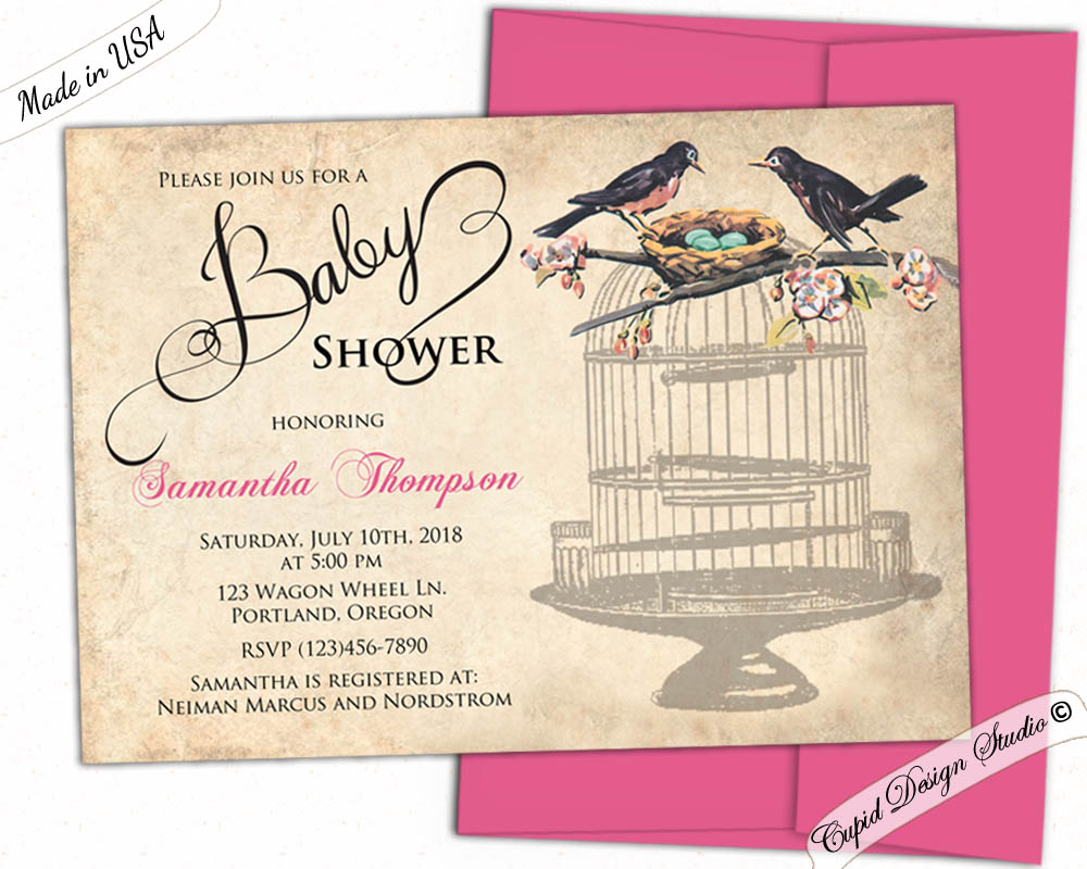 bird-nest-baby-shower-invitations Thank You Gifts For A Baby Shower