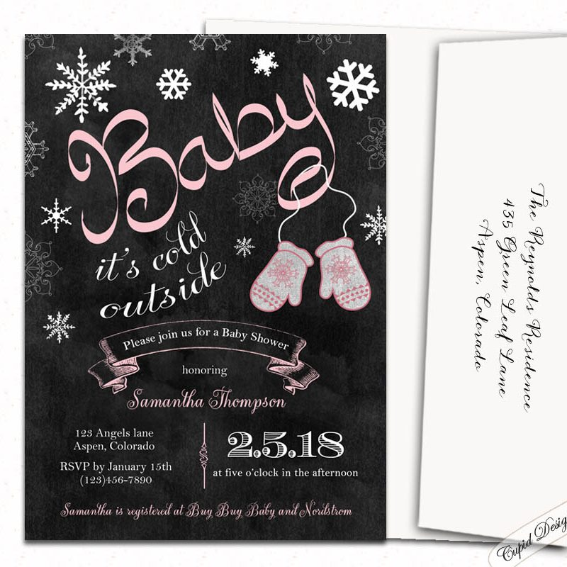 Baby Itu0027s Cold Outside Baby Shower Invitations ...