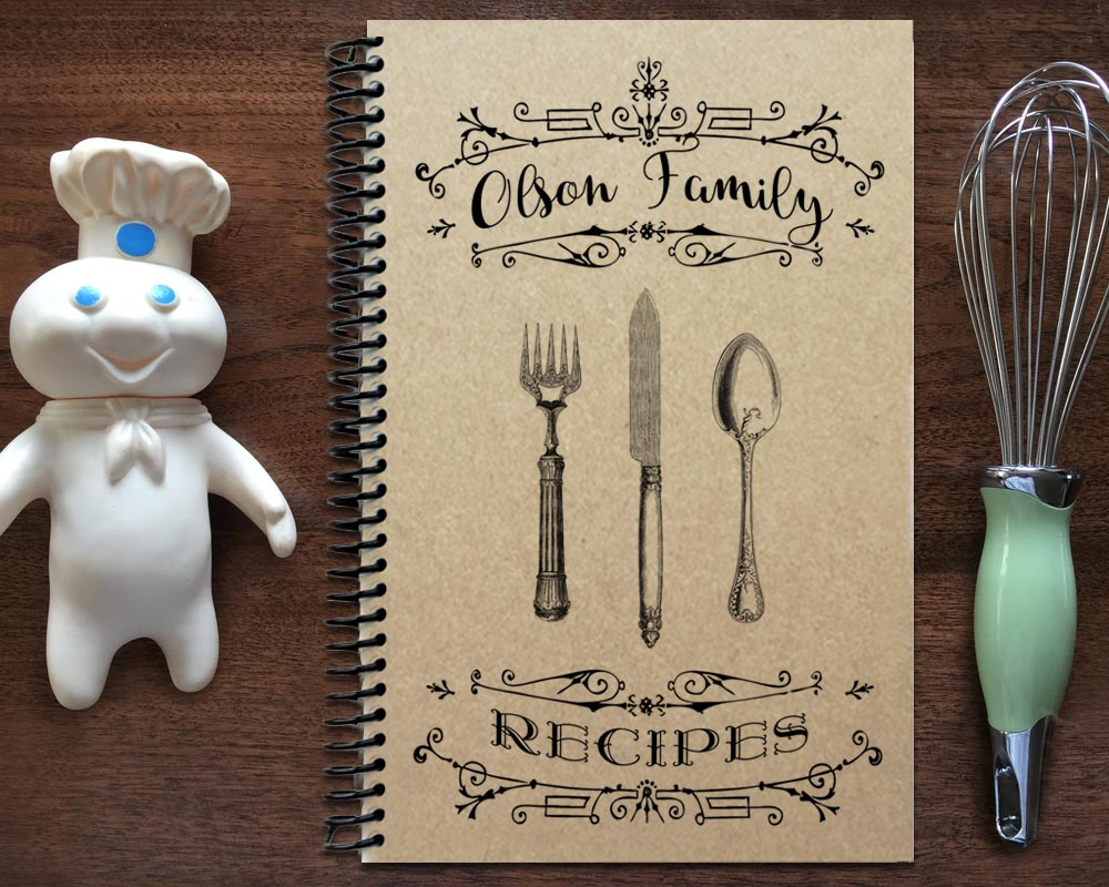 personalized family recipe book  unique christmas gifts