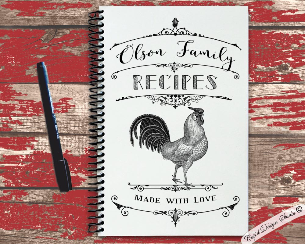 personalized recipe book with kraft cover