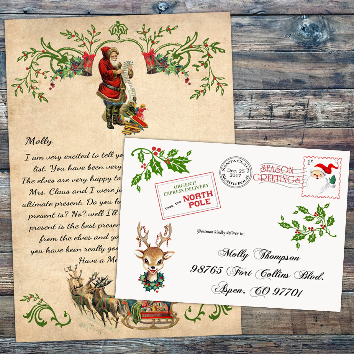 official pole mail personalized letters from santa letter from santa claus personalized official pole 875
