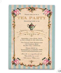 f456365863e High tea bridal shower invitations