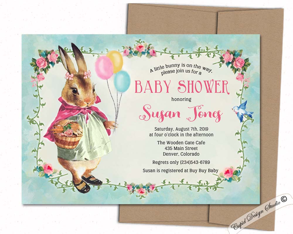 BBQ baby shower invitations, personalized printable or printed 5x7\