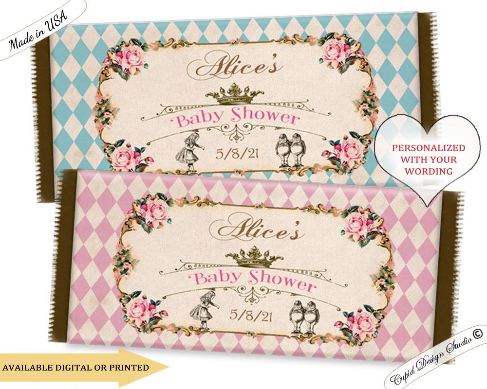 alice in wonderland hershey u0026 39 s chocolate bar wrapper labels