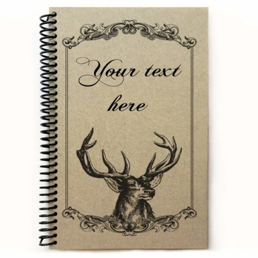 Deer journal, personalized recipe book