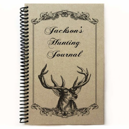 Personalized hunting spiral notebook